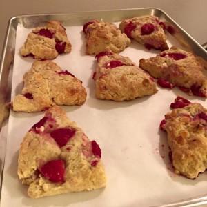 Raspberry White-Chocolate Scones